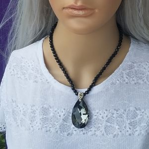 Cookie Lee Glass Pendant Necklace